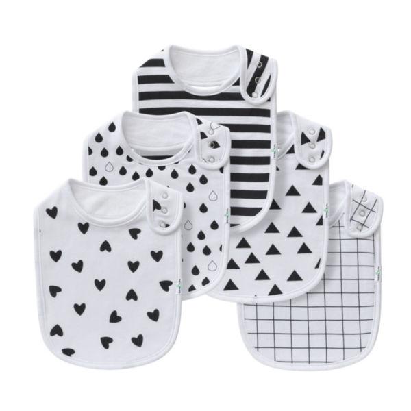 Waterproof Cotton Designers Baby Bandana Drool Bibs With Teething