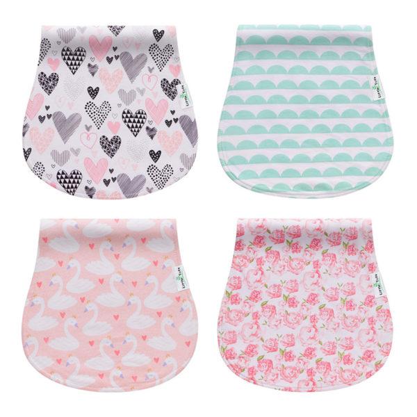 Absorbent 3 Pack Cotton Custom Muslin Kids Burp Cloth