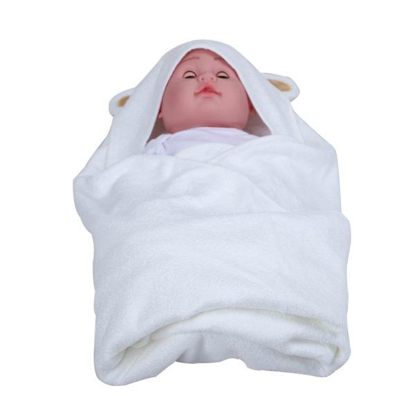 Big Size Baby Hooded Bath Bamboo Towel Newborn Poncho Organic Towel Set
