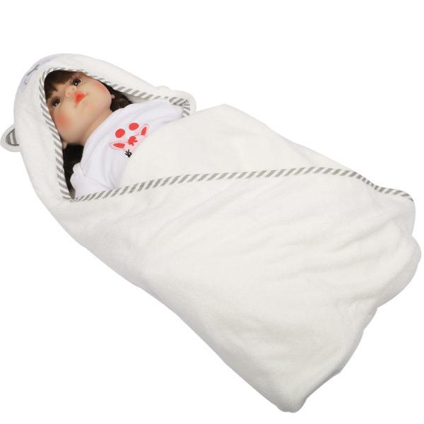 100% Organic Cotton Baby Hooded Animal Bath Towel Set For Kids