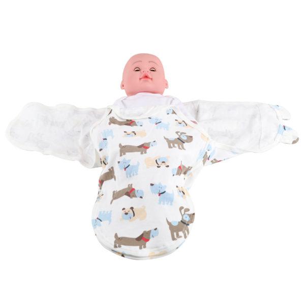 Custom 100% Organic Cotton Newborn Baby Swaddle Wrap Set 3 Pack