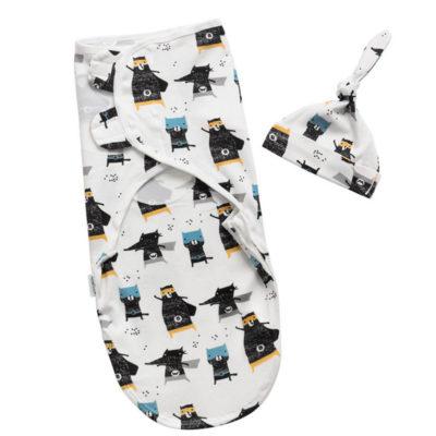 Adjustable Organic Cotton Baby Swaddle Wrap Sleep Sack For Newborn 3 Pack