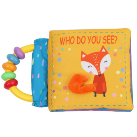Non-toxic Eco-friendly Educational Toys With Handle Super Soft Cloth Fabric Baby Cloth Book For Babies Fox Animal Series