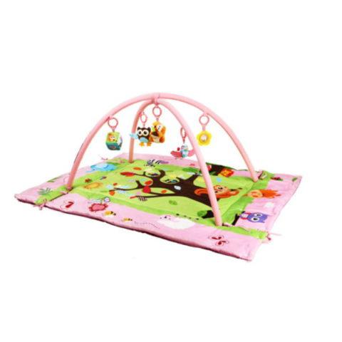 Custom 100% Cotton Waterproof Baby Gym Folding Padded Activ Play Mat