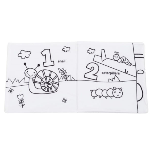 Cpsia & Eu Standards Kids & Children Books Baby Soft Fabric Doodle Book With Colorful Pen