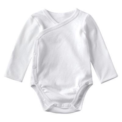 Eco Friendly Wholesale Baby Clothes Kimono Long Sleeve Bodysuit Newborn Organic Rompers