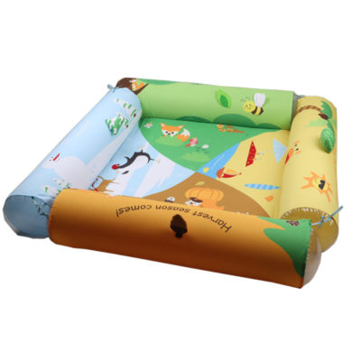 Hot Sale Wholesale Four Side Folding Large Size Inflatable Baby & Kids Soft Activity Baby Play Gym Mats