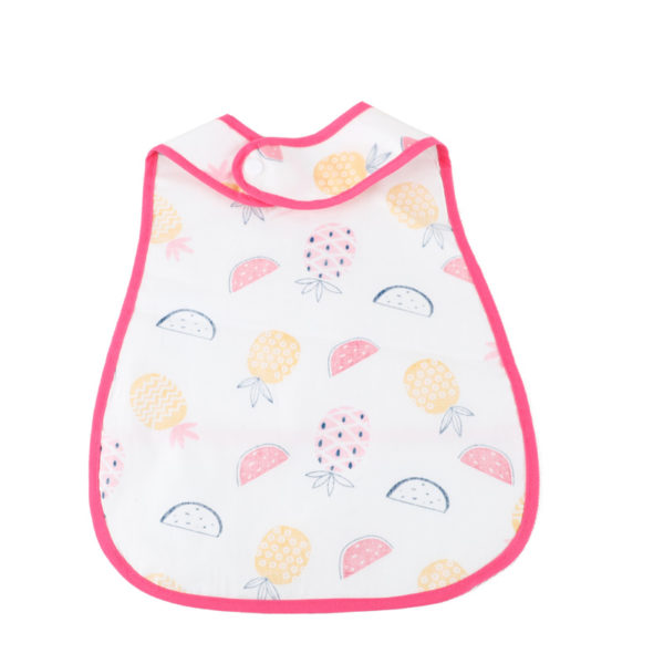 Fashion Baby Droll Bibs Babi Double Layer Waterproof Dribble Bandana Bib